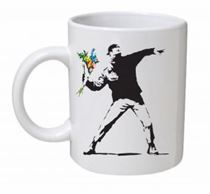 Banksy - Flower Thrower Mug