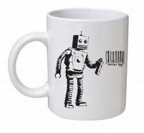 Banksy - Tagging Robot Mug