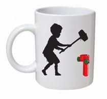 Banksy - Hammer Boy Mug