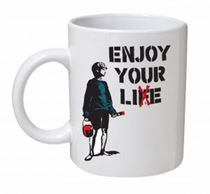 Banksy - Enjoy Your Life Mug