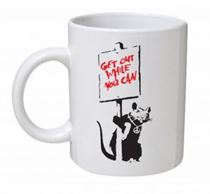 Banksy - Get Out while You Can Mug