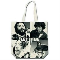 The Beatles Let It Be Black and White Cotton Tote Bag - Music and Media