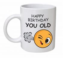 Happy Birthday You Old Fart Emoji Mug