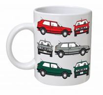 Volkswagen Golf MK2 Classic Car Mug