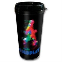 Coldplay Fuzzy Man Travel Mug - Music and Media