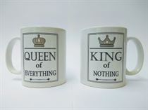 King of Nothing & Queen of Everything Mug Set