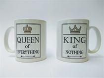 King of Nothing & Queen of Everything Mug Set