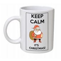 Keep Calm It's Christmas Santa Sack Mug