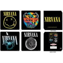 Nirvana 4 Piece Cork Coaster Set In Presentation Box - Music and Media