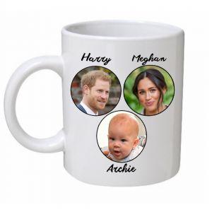Harry, Meghan & Archie Royal Family Mug