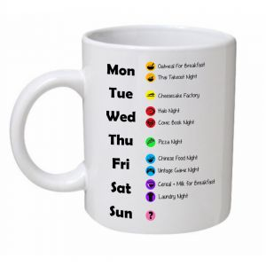 Weekly Schedule Big Bang Theory Mug