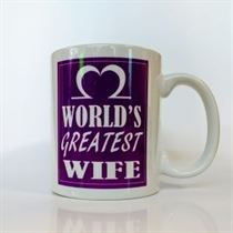 World's Greatest Wife Mug - Purple