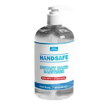 Handsafe 500ml Gel Hand Sanitiser With Pump