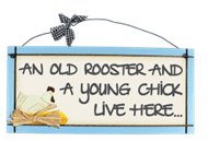 Old Rooster - Sweet Sentiments Plaque