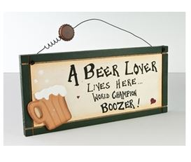 beer lover wooden plaque