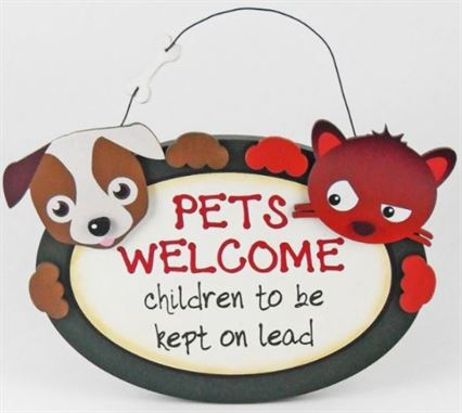 Cheerful plaques to brighten pet owners homes